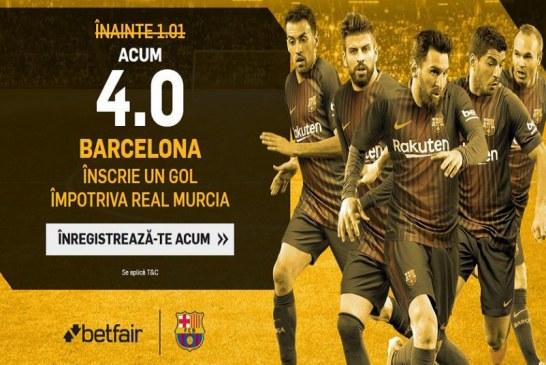 Cota mare pentru Barcelona sa marcheze