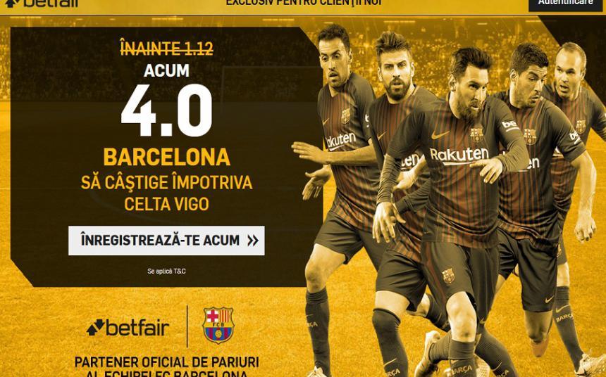 Cota speciala la partida Barcelonei