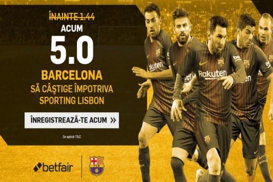 Castiga de 5 ori cu Barcelona