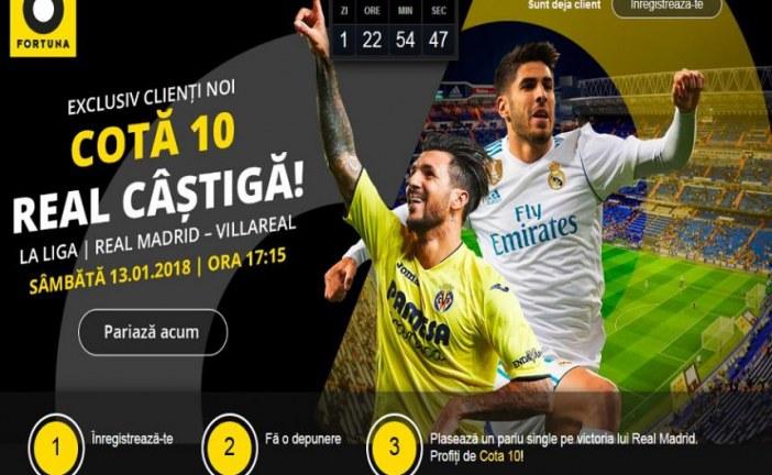Prinde cota de 10 pe Real Madrid