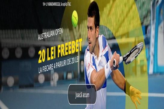 Un freebet pe zi la Australian Open