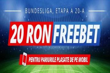 Pariaza Bundesliga de pe mobil si ai 4 freebet-uri