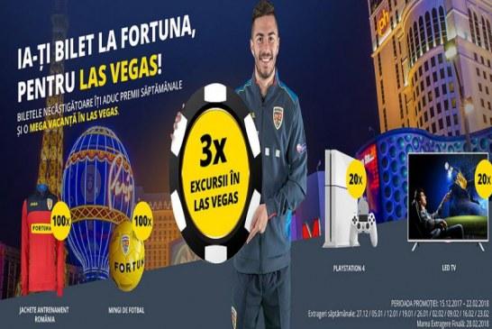 Fortuna te trimite la Las Vegas