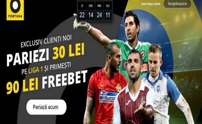 Freebet gigantic pe Liga 1