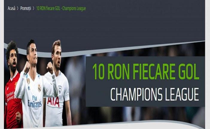 Incaseaza cate 10 ron la fiecare gol