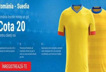 Cat valoreaza un gol al nationalei cu Suedia