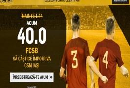 FCSB are cota de 40 la victorie