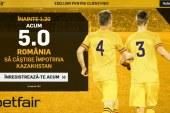Romania primeste cota excelenta la victorie