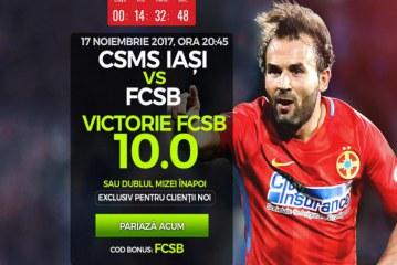 Inca o cota de 10 pentru FCSB