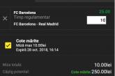 Unibet ofera cota 25 la victoria Barcelonei in EL CLASSICO