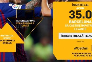 Barcelona este din nou pe Betfair la cota 35