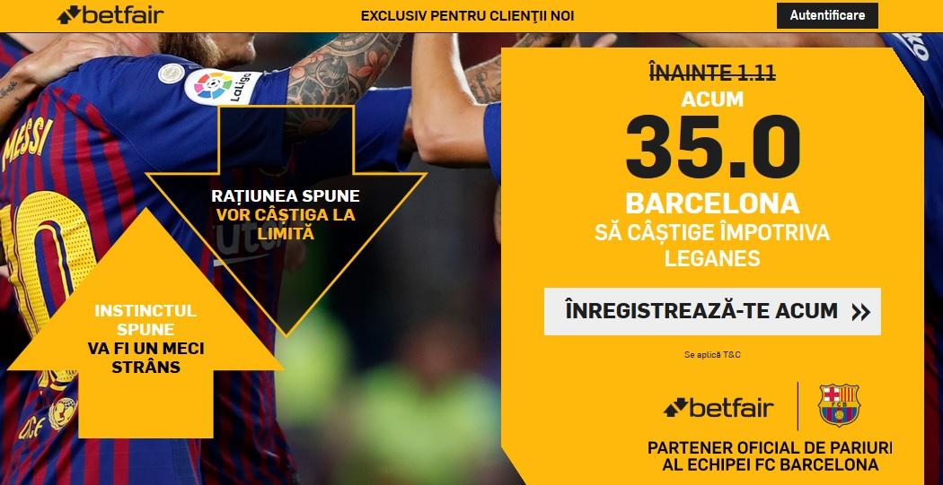 Ne mai lovim de o cota de 35 la Barcelona pe Betfair
